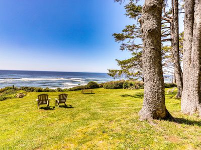 Photo for Charming oceanfront duplex with private deck and beautiful ocean views