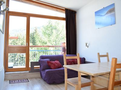 Photo for Les Arcs 1800 - Renovated Studio 25 m2 - Ski Out - View of the Mont-Blanc