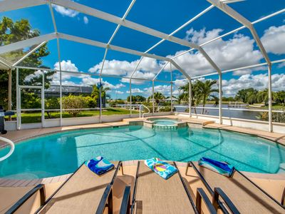 Photo for Heated Pool, Spa, Beautiful Views of a Gulf Canal - Villa Copacabana- Cape Coral