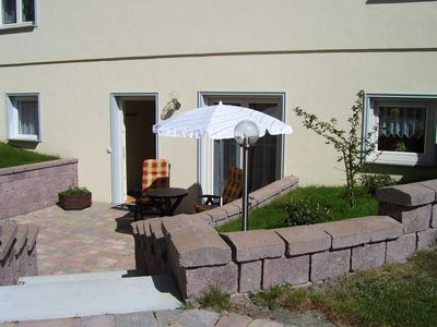 Photo for Apartment in the basement with terrace - Apartments Ostseebad Sellin