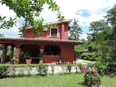Photo for Wonderful private villa for 8 guests with WIFI, A/C, private pool, TV, panoramic view and parking