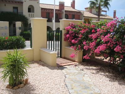 Photo for Two bed Andalusian townhouse on Costa Esuri golf resort