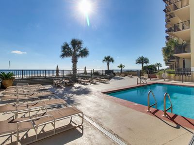 Photo for NEW LISTING! Stunning Gulf-View condo w/access to shared pool & full kitchen