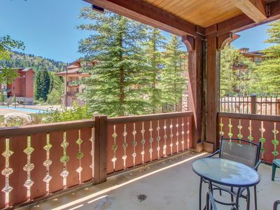 Photo for Ski-in/ski-out condo with a deck, ski views & a shared pool and hot tub!