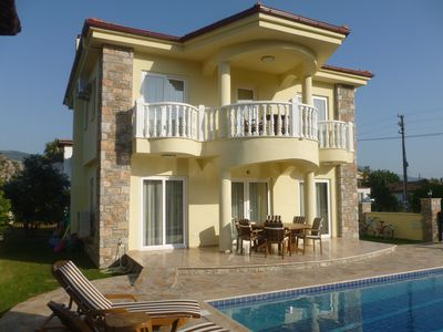 Photo for Beautiful Villa with Private Pool/ Garden. View of Rock Tomb & Kaunos Acropolis