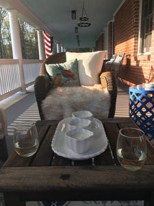 Cozy spots on the porch