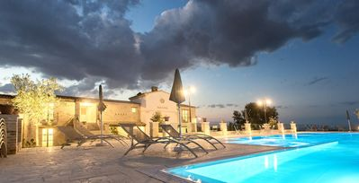 Photo for Country House, 10 rooms and 10 bathrooms, salt water pool, panoramic.