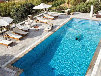 Photo for The Galaxy Mykonos villa with large pool and yoga platform