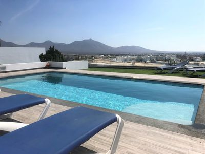Photo for Luxury villa - heated pool, hot tub, private terrace, aircon, Wi-fi + UK T