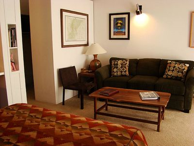 Photo for Slopeside Studio Condo, 2 Minute Walk to Lift, Sleeps 4