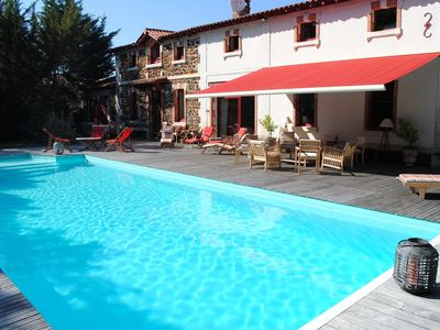 Photo for Holiday rental for June & July, old stable, heated pool, 2800 sqm property