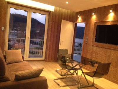 Photo for South oriented apartment for 4 to 5, by a lake at Gerardmer in the Hautes-Vosges