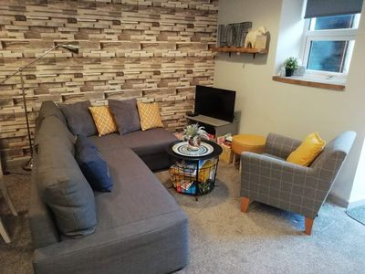 Photo for Modern one bedroom apartment with double sofa bed - sleeps 4