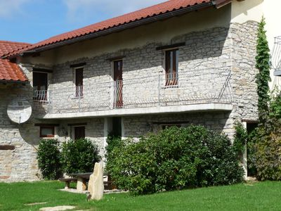 Photo for charming stone villa with swim lake and tennis court