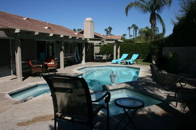 Private pool & spa, recently remodelled back yard, patio furniture and gas BBQ