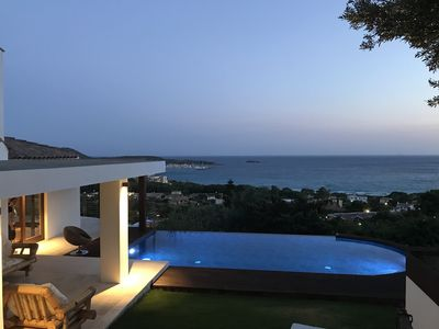 Photo for Campulongu, villa with panoramic swimming pool 350 meters from the sea