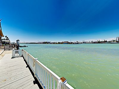 Photo for New Listing! Home on Channel w/ Views of Water, Covered Deck & 2 Pools