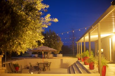 An evening in the patio. photo by our guest Anne Fink