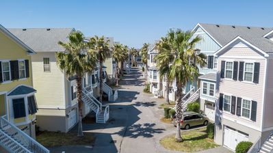 The quaint Water's Edge Community is tucked away in a private neighborhood but walkable to everything in Folly