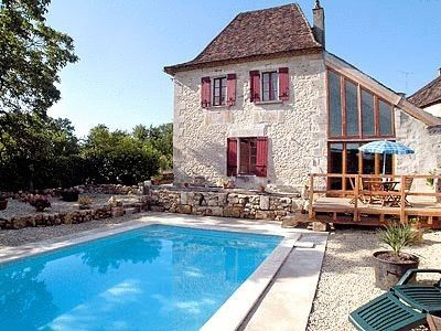 Photo for Charming restored farmhouse with pool on edge of pretty, quiet village