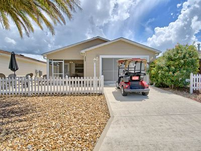 Pet friendly patio villa with complimentary use of golf cart
