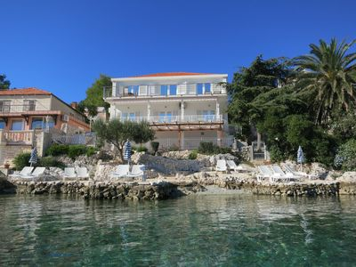 Photo for Apartments On the Private Beach (3 Units), Korcula town only few minutes by foot