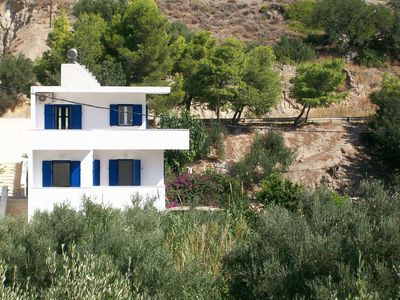 Photo for Detached villa in beautiful Agia Fotia Bay, few minutes from the sea