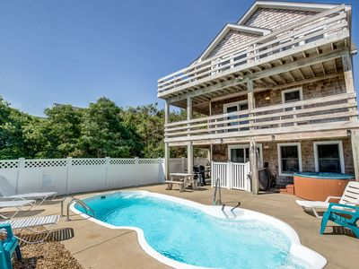 Photo for Blue Heron | 955 ft from the Beach | Private Pool, Hot Tub | Nags Head