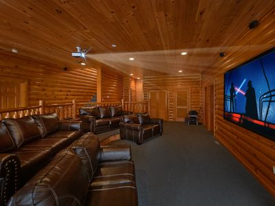 Photo for Wears Valley Cabin with Theater Room and Game Room - Sleeps 28