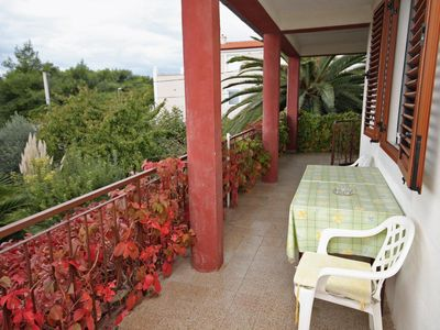 Photo for One bedroom apartment with balcony and sea view Privlaka (Zadar)