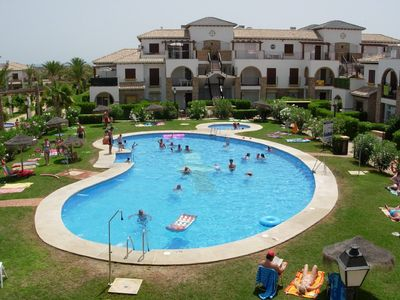 Photo for 2 bedroom Apartment, own terrace and garden, near beach with swimming pools