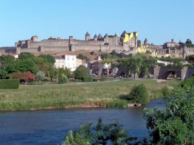 Photo for Flat with view over the Medieval Citadel of Carcassonne
