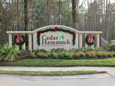 club entrance sign luxury condo at cedar hammock golf  u0026 cc   g      vrbo  rh   vrbo