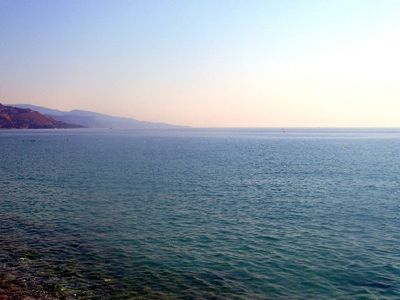 Photo for A 3 room flat located in Menton on the beach front with a large terrace
