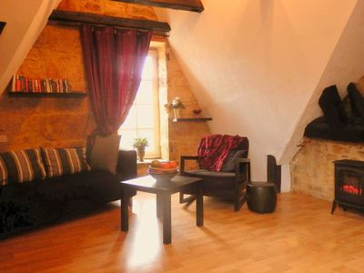 Photo for Character, beamed loft apt in the heart of medieval Sarlat