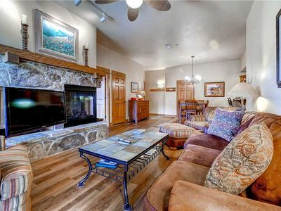 Photo for Amazing Mountain View, Deluxe Condo w/Private Balcony & Cozy Fireplace
