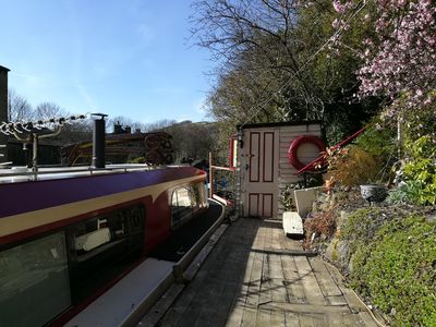 Photo for Charming houseboat in picturesque Hebden Bridge
