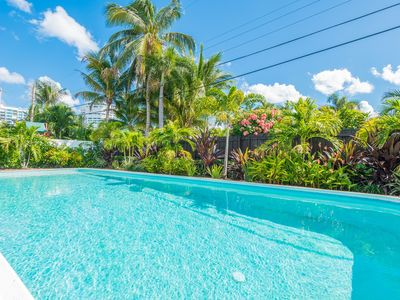 Photo for Coco Palm Escape: 5 Min Walk to Beach, 5 Star Home, 4/2, Heated Salt Water Pool!