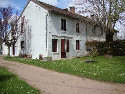Photo for large holiday house with trees and fenced. house in the perigord