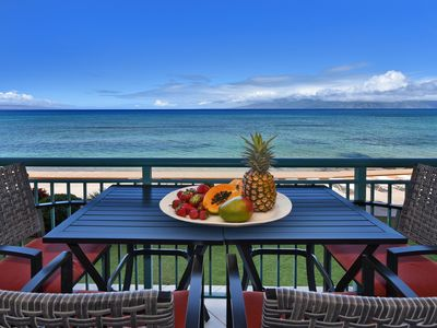 Photo for Makani Sands #207 1brm Beachfront Condo with Balcony on the Ocean