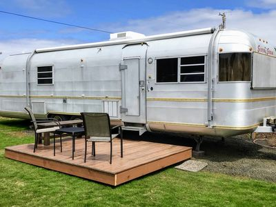 Photo for Perpetua - our comfy vintage trailer on the Oregon Coast