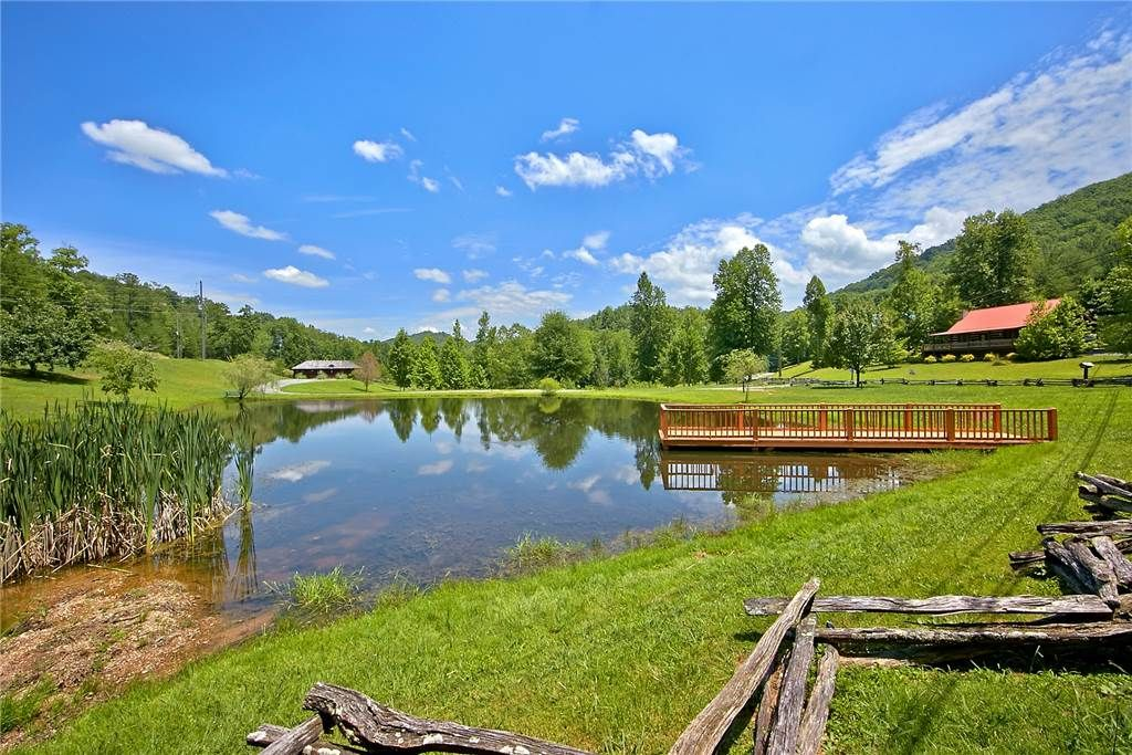 Forest serenity with a community pool fishing pond pet for Fishing in pigeon forge tn