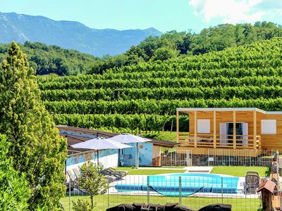 Photo for Modern mobile home between vineyards, shared swimming pool, restaurant at 50 m