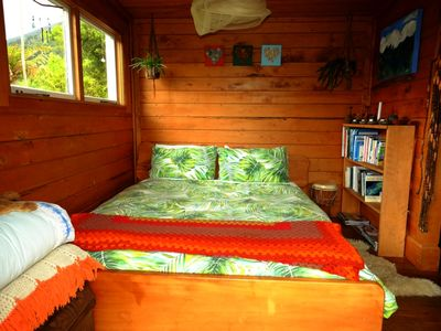 Photo for Wildside Lodge (romantic off-grid cabin)
