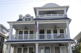 Front View of 2nd and 3rd floor covered porches.