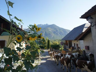 Photo for Beautifuly Converted Farm House close to Lake Annecy and Mountains