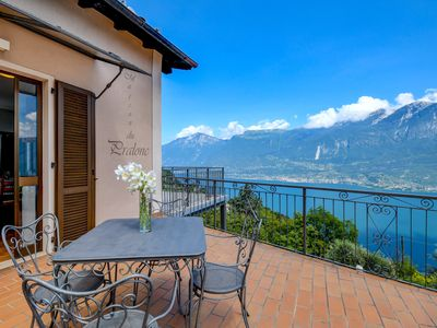 Photo for Holiday Apartment Maison du Pralonc - CIELO with Lake View, Mountain View, Wi-Fi & Terrace; Parking Available, Pets Allowed