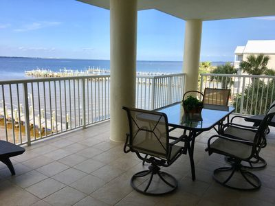 Photo for AUGUST DEALS!-BAYSIDE WATERFRONT- Spacious Condo w/Large balcony &  great view