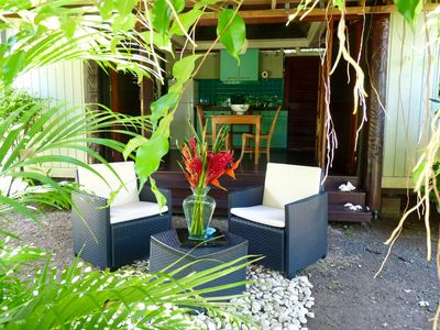 Poerani Moorea: Polynesian Cottage With Access to Lagoon - Honeymooners