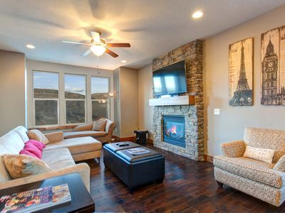 Photo for Home w/ fireplace, private hot tub, shared pool, game and fitness facilities